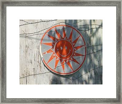Just Smile Framed Print by Sherry  Kepp