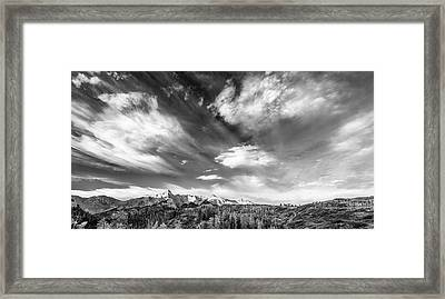 Framed Print featuring the photograph Just The Clouds by Jon Glaser