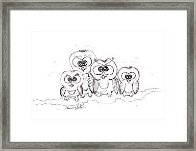 Just The Four Of Us Framed Print by Ramona Matei