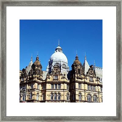 Just The Most Amazing Blue Sky Out In Framed Print by Dante Harker