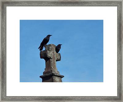 Just The Two Of Them Framed Print by Gothicrow Images