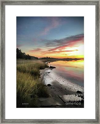 Just The Two Of Us At Sunset Framed Print