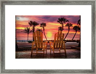 Framed Print featuring the photograph Just The Two Of Us by Debra and Dave Vanderlaan