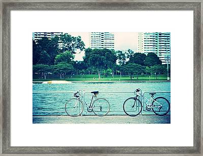 Just The Two Of Us Framed Print by Susette Lacsina