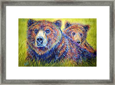 Just The Two Of Us Framed Print by Teshia Art