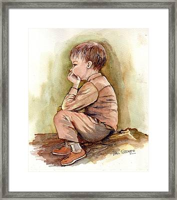 Just Thinking.. Framed Print by Val Stokes