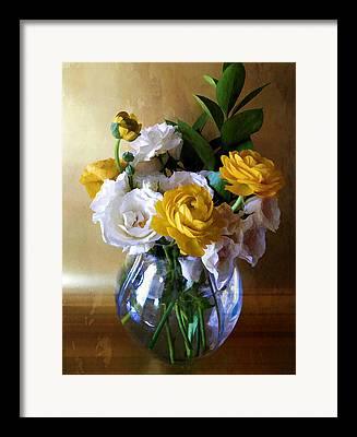 Vase Flower Watercolor Effect Framed Prints