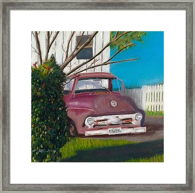Framed Print featuring the painting Just Up The Road by Arlene Crafton