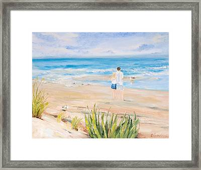 Just Us Framed Print by Evelyn Cassaday