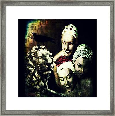 Framed Print featuring the digital art Just Washed My Hair by Delight Worthyn