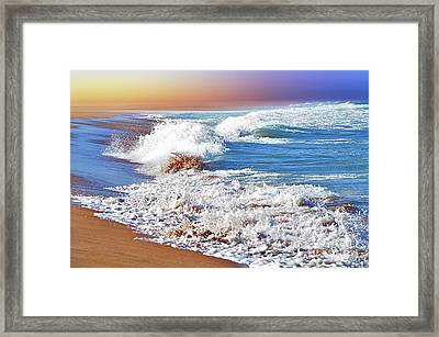 Just Waves By Kaye Menner Framed Print