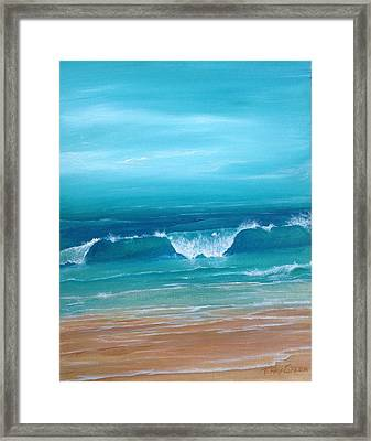 Just Waving Framed Print by T Fry-Green