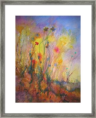 Framed Print featuring the painting Just Weeds by Mary Schiros