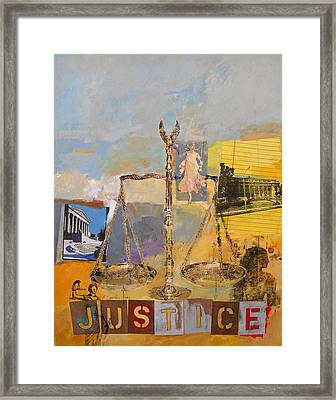 Framed Print featuring the painting Justice by Cliff Spohn