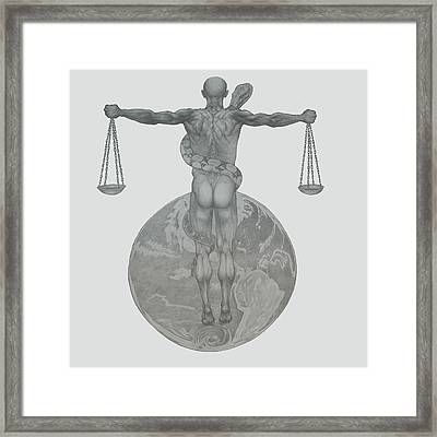 Justice Framed Print by Desimir Rodic