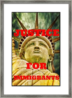 Justice For Immigrants II Framed Print