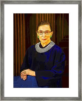 Justice Ginsburg Framed Print