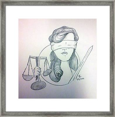 Justice Framed Print by Loretta Nash