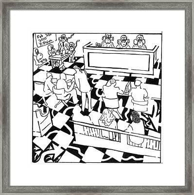 Justice Monkeys Framed Print by Yonatan Frimer Maze Artist