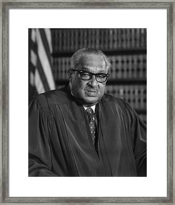 Justice Thurgood Marshall 1908-1993 Framed Print by Everett