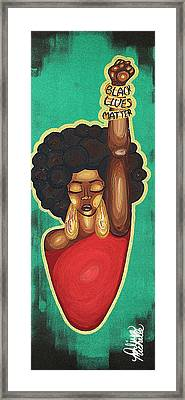 Justice Wanted Framed Print by Aliya Michelle