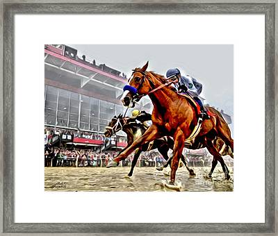 Justify Wins Preakness Framed Print