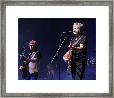 Justin And John Of The Moody Blues Framed Print