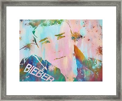 Justin Bieber Framed Print by Dan Sproul