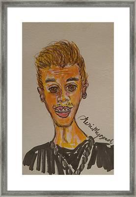 Justin Bieber Framed Print by Geraldine Myszenski