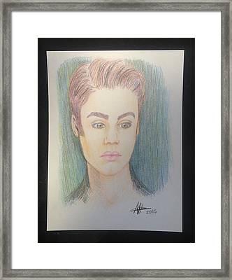 Justin Bieber Framed Print by Heidi Vickers