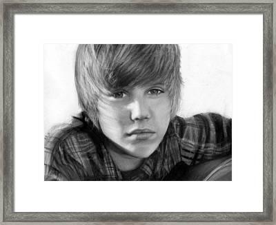 Justin Bieber Framed Print by Nat Morley