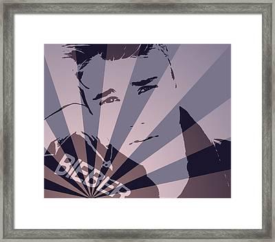 Justin Bieber Pop Art Poster Framed Print