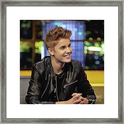 Justin Bieber Framed Print by Twinkle Mehta