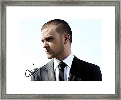 Justin Timberlake Drawing Framed Print