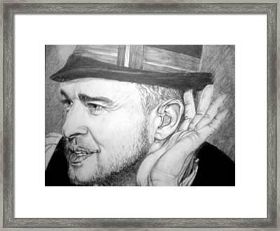 Justin Timberlake Framed Print by Sean Leonard