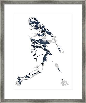 Justin Upton Detroit Tigers Pixel Art 1 Framed Print