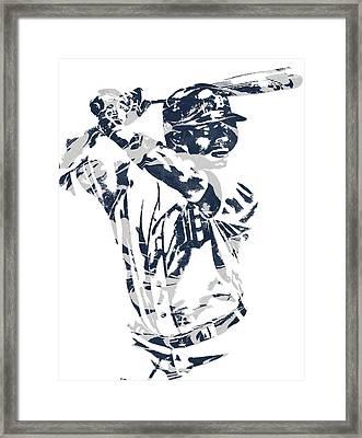 Justin Upton Detroit Tigers Pixel Art 2 Framed Print