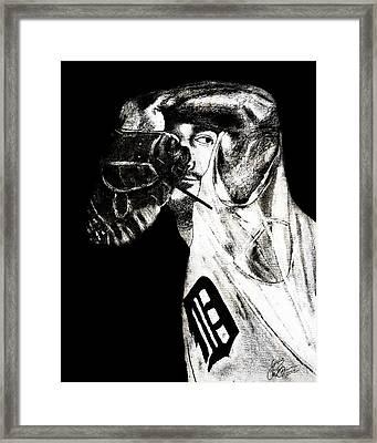 Justin Verlander Framed Print by Chris Grimm