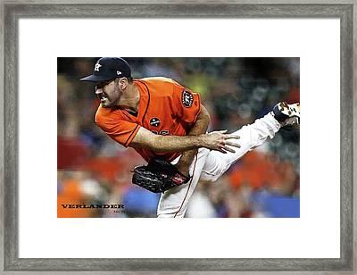 Justin Verlander, Houston Astros Framed Print