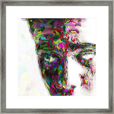 #justinbieber @justinbieber Framed Print by David Haskett
