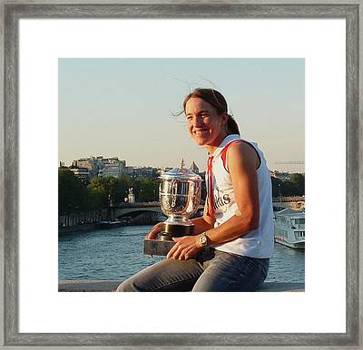 Justine Henin Framed Print by Luisa Gatti