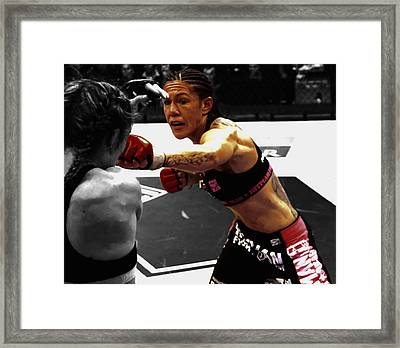 Justino Punching Marloes Coenen Framed Print by Brian Reaves