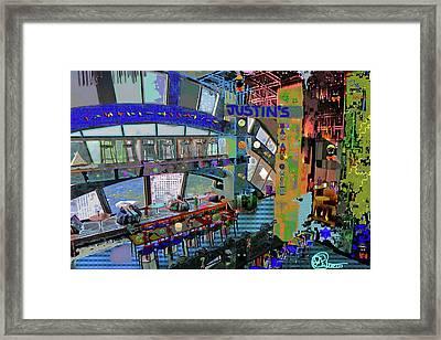 Justin's Bar Framed Print by Charles Papaccio