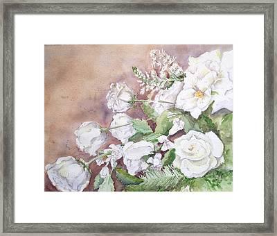Justin's Flowers Framed Print