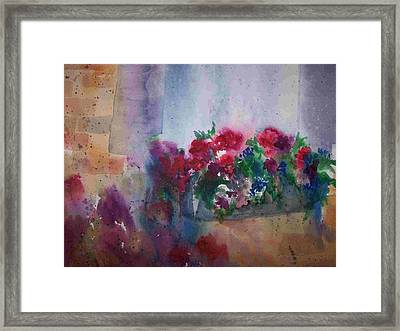 Jutta's Windowbox Framed Print by Sandy Collier