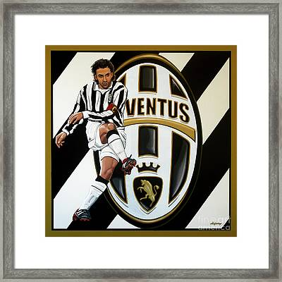Juventus Fc Turin Painting Framed Print