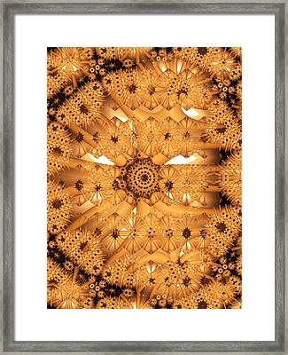 Framed Print featuring the digital art Juxtapose by Ron Bissett