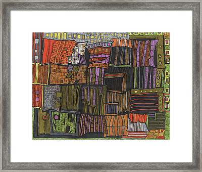 Juxtaposed Places Framed Print by Sandra Church