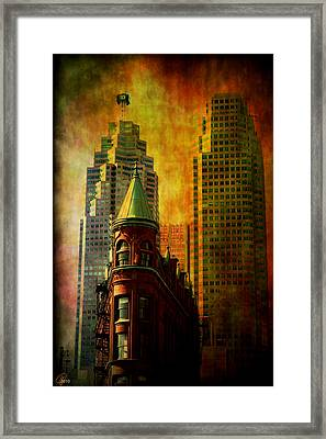 Framed Print featuring the digital art Juxtaposition by Margaret Hormann Bfa