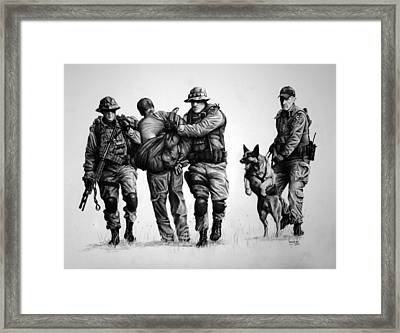 K-9 One In Custody Framed Print